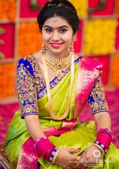 South indian bridal blouse designs hindus 37 Ideas for 2019 South Indian Bridal Jewellery, South Indian Weddings, Indian Jewelry, South Indian Bride Saree, Bride Indian, Indian Wear, Mary Janes, Wedding Saree Blouse Designs, Wedding Blouses