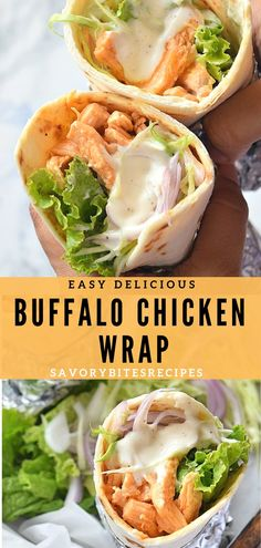 Easy,flavorful Chicken Wrap for Dinner/ Lunch fix- Buffalo Chicken Wrap! Easy,flavorful Chicken Wrap for Dinner/ Lunch fix- Buffalo Chicken Chicken Wrap Recipes Easy, Chicken Lunch Recipes, Chicken Ideas, Salmon Recipes, Pollo Buffalo, Buffalo Chicken Wraps, Le Diner, Chicken Flavors, Meatloaf Recipes