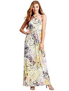 97dc0e51aa GUESS Women s Winona Printed Maxi Dress