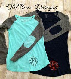 Youth Preppy Patch Raglan Baseball Style Knit T Shirt by OldTrace