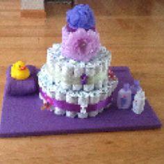 Diaper cake for a baby shower! Cute idea <3