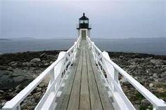Arcadia National Park.  Boardwalk and lighthouse