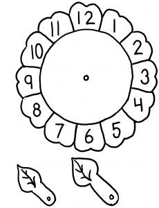 Clock craft idea for preschool kids Clock Worksheets, Preschool Worksheets, Matching Worksheets, Telling Time Activities, Preschool Activities, Telling Time For Kids, Math For Kids, Crafts For Kids, Sunflower Coloring Pages