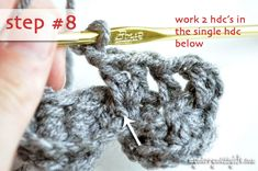 My Merry Messy Life: Crochet Crocodile Stitch Tutorial
