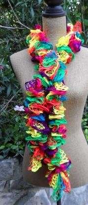 Crochet Ruffle Scarf - Yarn Bee Chrysalis 'California Sister'