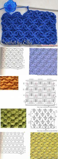 Необычный узор для вязания спи