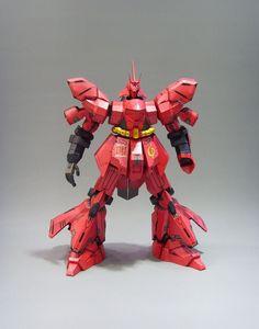 MSN-04 Sazabi Gundam Papercraft by Rarra 2