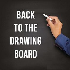 """😀 Our idiom of the day is """"back to the drawing board"""", which means """"it's time to start from the start."""" Origin: A drawing board is an architect's or draughtsman's table, used for the preparation of designs or blueprints. The phrase. English Tips, English Idioms, English Phrases, English Study, English Vocabulary, English Grammar, Teaching English, Learn English, American Idioms"""
