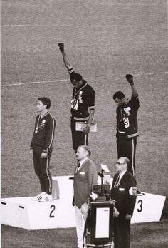 Black Power Salute 1968 Olympics Poster 24x36