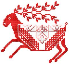 Christmas horse free embroidery - Cross stitch machine embroidery - Machine embroidery community