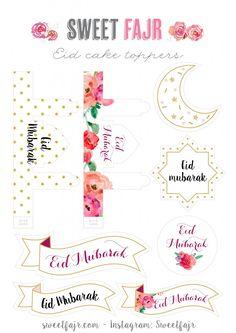 Eid Cake Toppers - Sweet Fajr