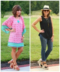 Today I'm doing a review of all the outfits I styled for my 26 Days of Summer Fashion. It's been a fun month of summer fashion for women over 40!