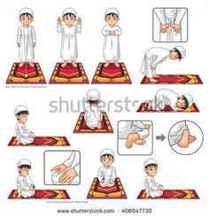 Islamic Books For Kids, Islam For Kids, Learning To Pray, Learning Arabic, Ablution Islam, Tafsir Coran, Prayer Position, Islam Beliefs, Islam Muslim