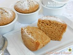 Muffin di ricotta con caramello