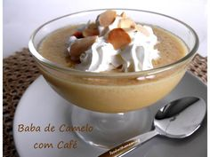 Baba de camelo light com café