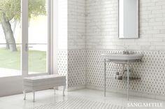 Tile - CALACATTA by VALLELUGACER  화이트 마블이 고급스러운 욕실을 연출해줍니다  #tile #tiles #Sangahtile #interior #design #marbletile #marble #whitemarble #bathroom #luxury #상아타일 #수입타일 #대리석타일 #화이트마블 #욕실타일 #타일 #고급스러운 #욕실 #인테리어 #디자인