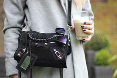 Balenciaga Mini City Bag, Balenciaga Classic City, Style Blog, My Style, Tartan Pants, My Outfit, Fashion Bags, Minis, Black Suede