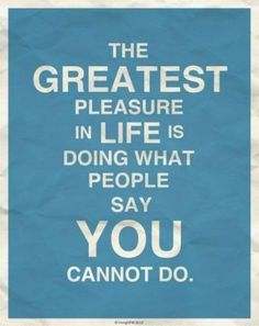 The greatest pleasure of all