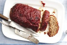 Toponia Miller from San Francisco's The Fatted Calf shares their recipe for classic American meatloaf with a tangy, spicy cocktail sauce glaze. Classic Meatloaf Recipe, Meatloaf Recipes, Meat Recipes, Cake Recipes, Cooking Recipes, Food52 Recipes, Dinner Recipes, Healthy Recipes, Bon Appetit