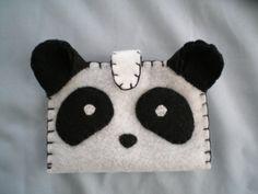 Handmade Felt Wallet  Panda blackandwhite by boinsie on Etsy, $12.00