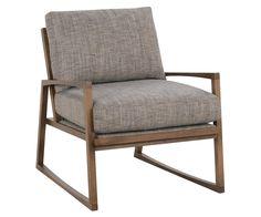 "Talia ""Designer Style"" Mid-Century Modern Wood Frame Fabric Accent Chair"