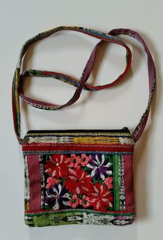 Ruth Y Nohemi Handmade Passport Bag Purse Hand Made Small Mini Woven Flowers #Handmade #MessengerCrossBody