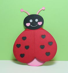 Preschool Crafts for Kids*: Valentine's Day Ladybug Heart Card Craft