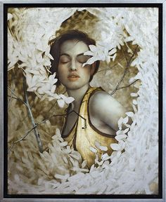 the paintings and artwork of brad kunkle. gold leaf artist and painter brad kunkle. Silver Leaf Painting, Gold Leaf Art, L'art Du Portrait, Portraits, Figure Painting, Painting & Drawing, Brad Kunkle, 3d Figures, Painted Leaves