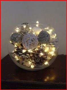 Fairy string lights: Energy-saving LED bulbs safe to touch after many hours of use, Highly protective security to guaranteed of no scalding even in circumstances that those elderly and children accidentally touch it Christmas Fairy Lights, Easy Christmas Decorations, Winter Wedding Decorations, Rustic Christmas, Simple Christmas, Christmas Crafts, Christmas Bulbs, Holiday Decor, Winter Centerpieces