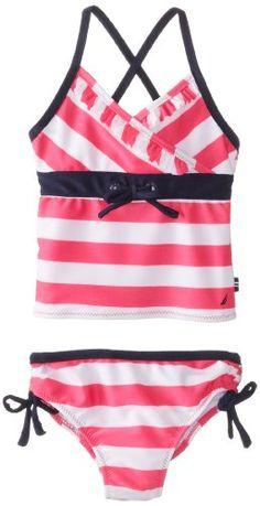 Nautica Baby-Girls Infant Stripe Tankini - List price: $26.50 Price: $18.99 Saving: $7.51 (28%)
