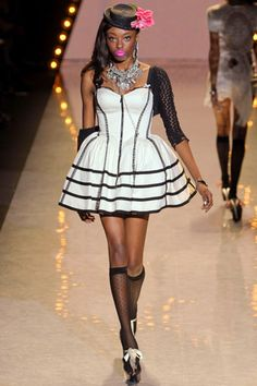 Hat, socks, dress! Betsey Johnson Spring 2012 RTW
