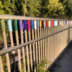 Yarn bombing in whistler. So cool! - @nancy_wancy- #webstagram #yarnbombing
