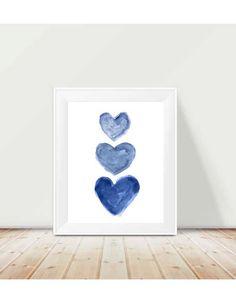 Indigo Watercolor Print 11x14, Nautical Nursery Art, Navy Blue Art, Navy Kids Decor, Midnight Blue Decor, Dark Blue Art Print, Indigo Art by OutsideInArtStudio on Etsy https://www.etsy.com/listing/183120343/indigo-watercolor-print-11x14-nautical