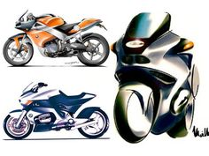 BMW Motorcycles design sketches  from the Design Sketch Board http://www.carbodydesign.com/design-sketch-board/page/52/
