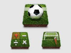 Football Mobile App Icons by PILItong