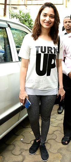 Tamannaah Bhatia spotted in Andheri, Mumbai. #Bollywood #Fashion #Style #Beauty #Hot #Sexy