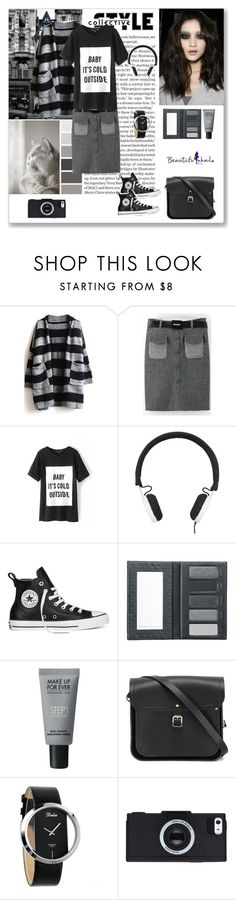 """""""Beautifulhalo 84"""" by ludmyla-stoyan ❤ liked on Polyvore featuring мода, Seed Design, Marc by Marc Jacobs, Converse, Borghese, MAKE UP FOR EVER и The Cambridge Satchel Company"""
