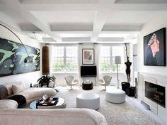 un salotto interessante ...divano e pouf pertfetti per il my salotto