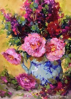 Nancy Medina Art: SOLD ~ Peonies Out of Season by Floral Artist Nancy Medina