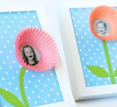 comment fabriquer un cadre photo enfant avec des moules à muffins, idée DIY
