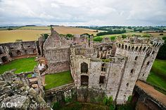 View from the tower of Raglan Castle