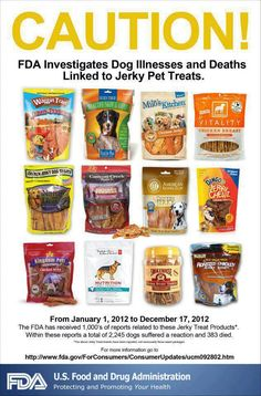 Recalled treats.  http://www.OrlandoCanineConnections.com