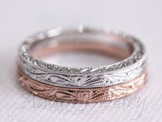 Antique Design 14k White Gold/ Rose Gold/ Yellow by AdamJewelry - $250
