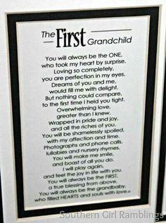 The First Grandchild poem