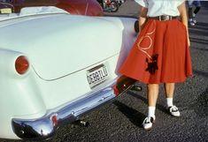 1950s Poodle Skirt, Poodle Skirts, Red Poodles, Saddle Shoes, Kids Running, Hot Pants, Vintage Pictures, Bell Bottoms, Vogue
