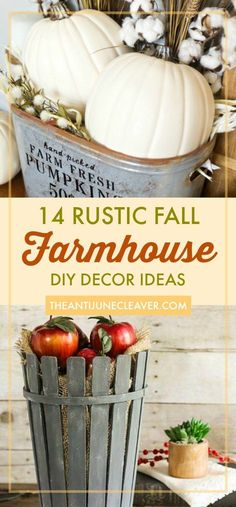 Get your home ready for fall, halloween, or thanksgiving with these 14 gorgeous DIY farmhouse decor ideas (roundup) Rustic Style, Rustic Decor, Bohemian Interior, Shabby Chic, Free, Home Decor, Homemade Home Decor, Shabby Cottage, Bohemian Homes