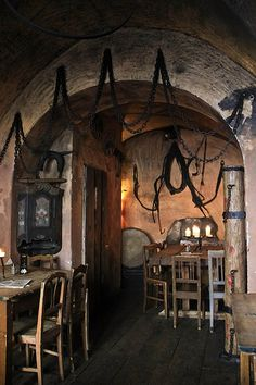 Medieval Tavern in Prague | The decor is Neo-Torture Chamber. I think they used the same interior ...