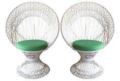 Fan Chairs, Pair on OneKingsLane.com