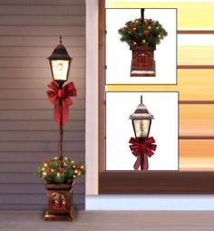 Pre-Lit Christmas Lamp Post Decorated Tree 4' Porch Xmas Decoration Outdoor Yard #Holidaytime