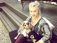 Julianne Hough Gets in the Fall Spirit with Her Dogs Lexi and Harley